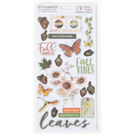 Vintage Artistry In The Leaves Chipboard Stickers