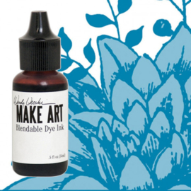 Make Art Dye Ink Pad Reinkers Bluebird