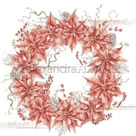 Christmas Wreath Red Poinsettia Wreath