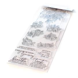 "Clear Stamp Set 6""X8"" Joyful Bouquet"