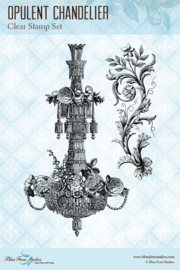 A Romantic Life Opulent Chandelier clear stamp