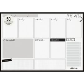 Black Weekly Planner Pad A4