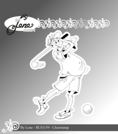Clear Stamps Funny Golf Player 1