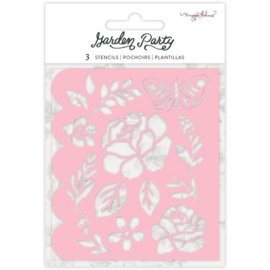 Garden Party Stencils Flower Builder