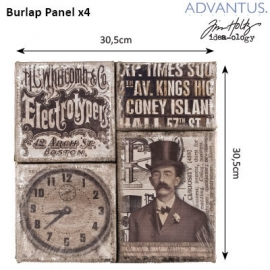 Burlap panel steampunk