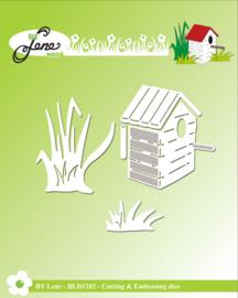 Cutting & Embossing Dies Birdhouse & Grass