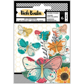 Wildflower & Honey Layered Stickers Vellum Butterflies