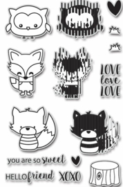 Animation Clear Stamp and Dies Hello Friends