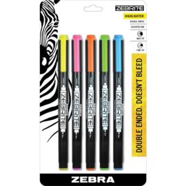 Zebrite Eco Highlighter Assorted