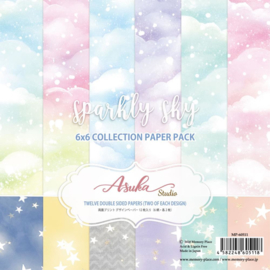 "Sparkly Sky Paper Pack 6""X6"