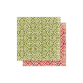 Rejoice 10 Green & Cream Damask