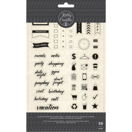 Acrylic Stamps Planner Words & Icons