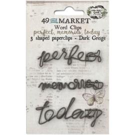 Perfect, Memories & Today In Dark Greige Paperclips