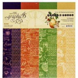"""Fruit & Flora Paper Pad 12""""X12"""""""