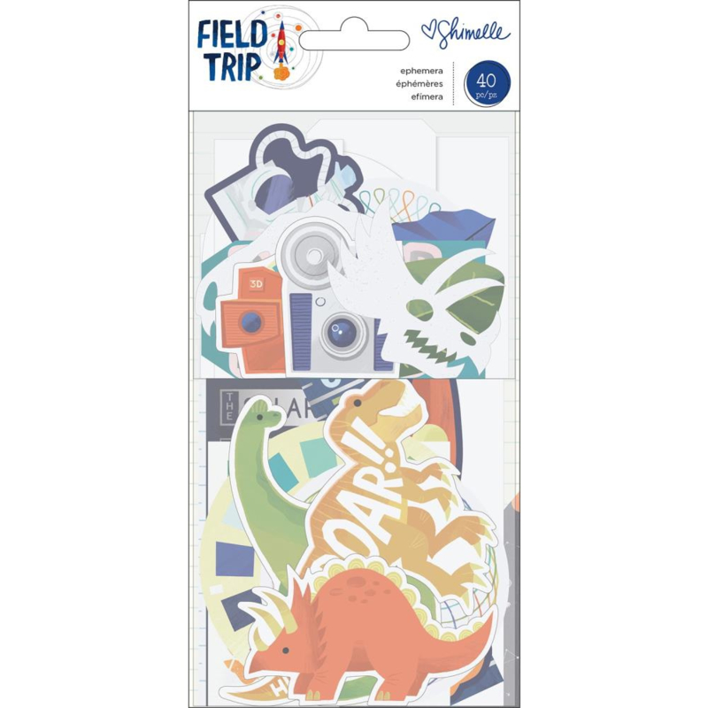"""American Crafts Shimelle Field Trip 6/""""x8/"""" historique Pad Pad 352206"""