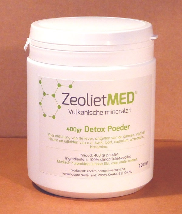 ZeolietMED, purifying finely ground zeolite 400gr
