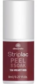 Striplac Peel or Soak 126 Velvet red 8ml
