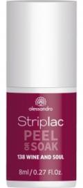 Striplac Peel or Soak 138 Wine and Soul 8ml