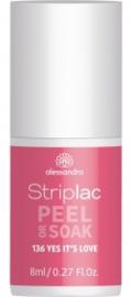 Striplac Peel or Soak 136 Yes it's love 8ml