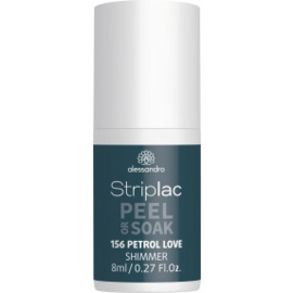 Striplac Peel or Soak 156 Petrol Love Shimmer 8 ml.
