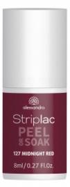 Striplac Peel or Soak 127 Midnight red 8ml