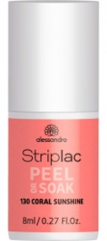 Striplac Peel or Soak 130 Coral Sunshine 8ml