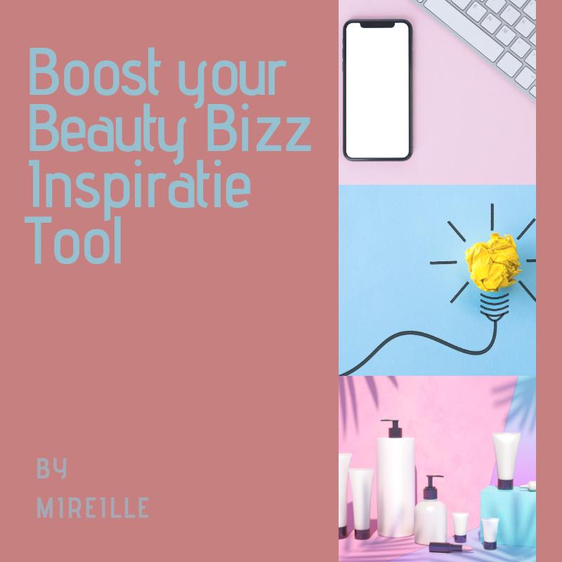 BOOST YOUR BEAUTY BIZZ INSPIRATIE TOOL