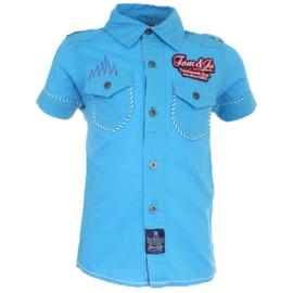 Tom&Jo blouse ( blauw)