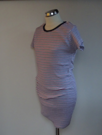 Lemon Beret jurk streep (rood/blauw)