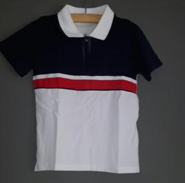 Poloshirt rood/wit/blauw
