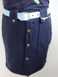 Zero Jeans rok sier knopenrij navy