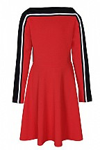 Dxel jurk rood/zwart