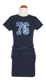 Zero Jeans jurk '76' navy/offwhite maat 92/98