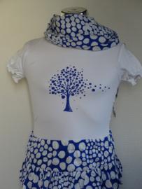 Doerak shirt wit (kobalt) 128/134