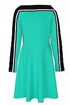 Dxel jurk groen/zwart