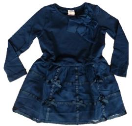 Zero Jeans jurkje met tule (blauw)92/98