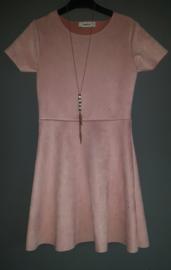 Suedine jurk (roze)