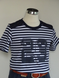 Vinrose shirt streep (Blauw/wit)