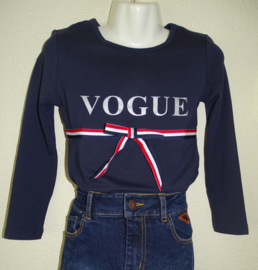Zero jeans shirt vogue (navy) maat 104/110