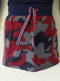 Zero Jeans rok camouflage bies navy