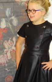 Imitatie leren jurkje met knopen