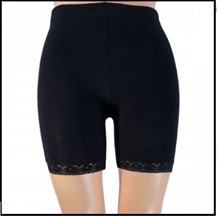Yellow moon katoenen short/leggingbroekje kant navy en wit 20239