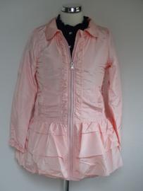 Zero Jeans zomerjas ruches roze 80/86