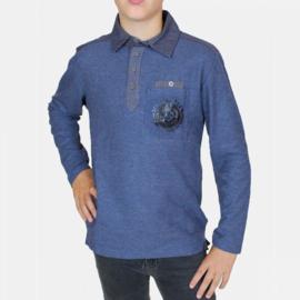 RG Poloshirt lange mouwen (blauw)