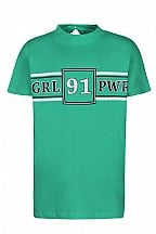 Dxel shirt girl power groen
