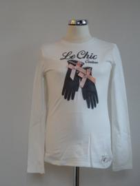 Le Chic Longsleeve offwhite met handschoenen  maat 152