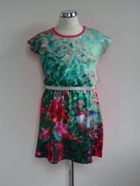 Lemon Beret jurk met vogelprint