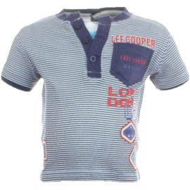 Lee Cooper t-shirt blauw / wit