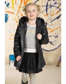 Lemon Beret jurk met tule rok zwart