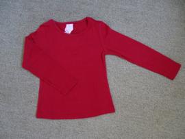 Zero Jeans basic longsleeve warm rood